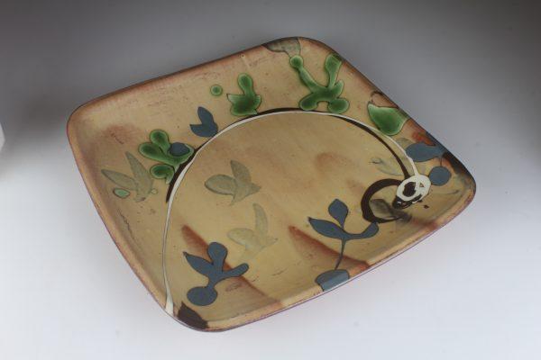 slip decorated plate